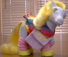Pony with legwarmers